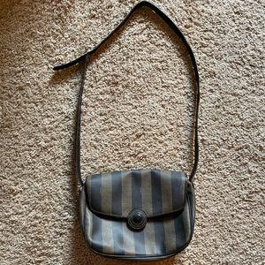 Vintage Fendi Pequin Crossbody